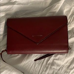 Balenciaga Papier Zip Around Money Wallet